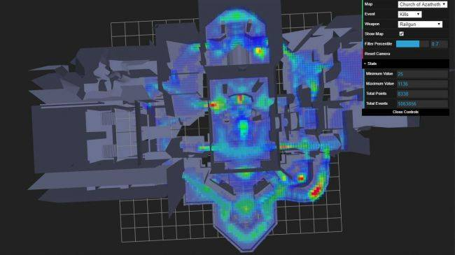 Quake Champions adds heatmaps showing the danger spots in every arena