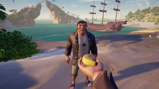 Sea of Thieves' Cursed Sails update adds a new player ship and skeleton ships today