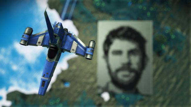Player builds giant face of Sean Murray on a No Man's Sky planet