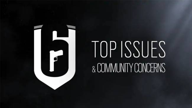 Rainbow Six Siege Top Issues Listed by Ubisoft