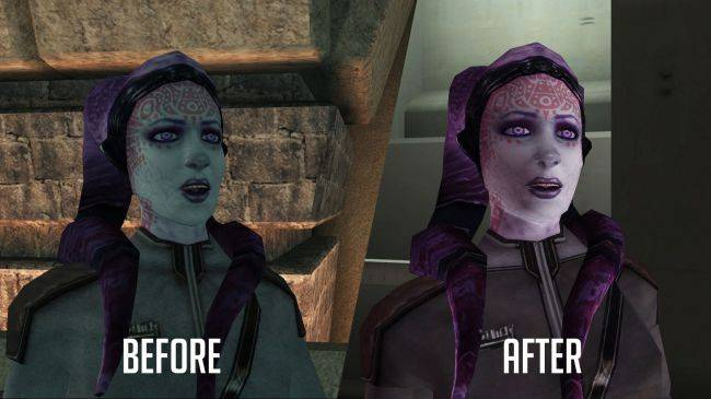 See Knights of the Old Republic with a 3GB character overhaul