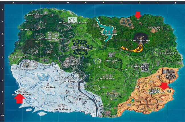 Where to find Fortnite's three solar arrays