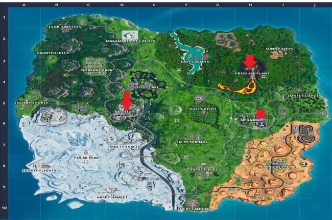 Where to find Fortnite's public service announcement signs