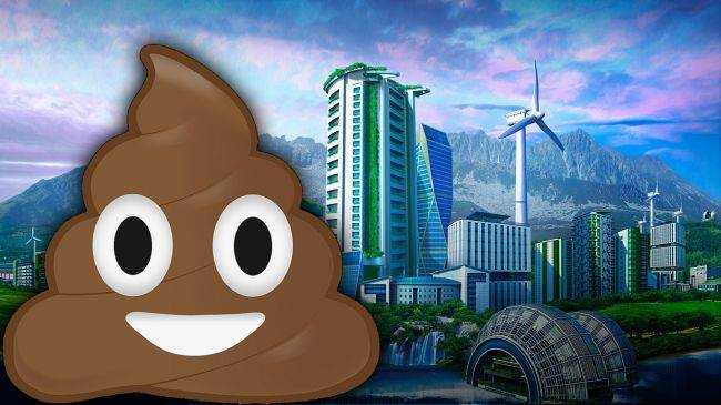 This working calculator in Cities: Skylines is powered by human poo