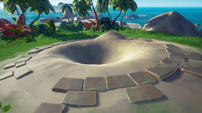 A big hole has mysteriously appeared on an uncharted island in Sea of Thieves