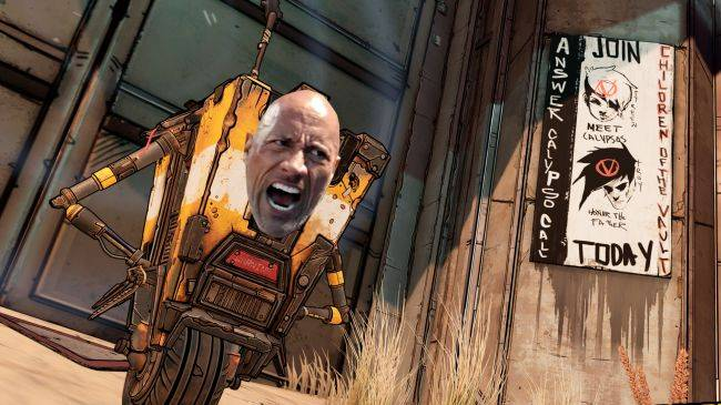 Borderlands 3's creative director wants The Rock to play Claptrap in the movie