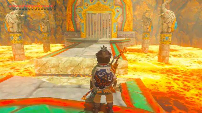 The floor is lava in this new modded Breath of the Wild dungeon