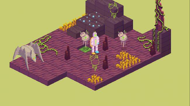 Free puzzle game Xenopulse offers isometric, sci-fi block-pushing