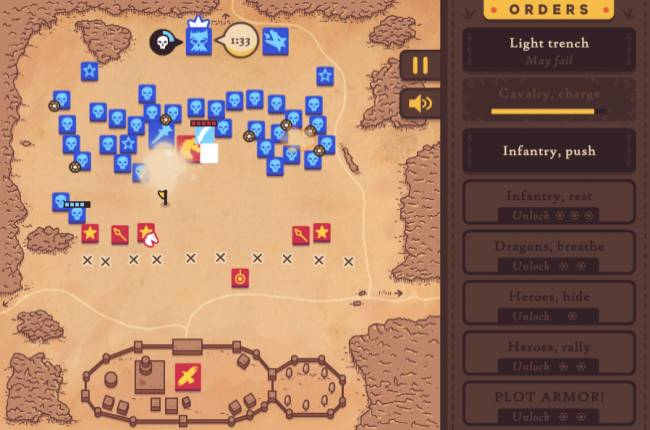 You'll probably lose the Battle of Winterfell in this tough browser game