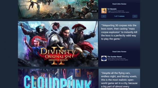 Community Recommendations are officially part of Steam now and they're sure something
