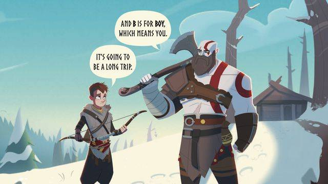 God of War has been adapted into a children's book (for adults)