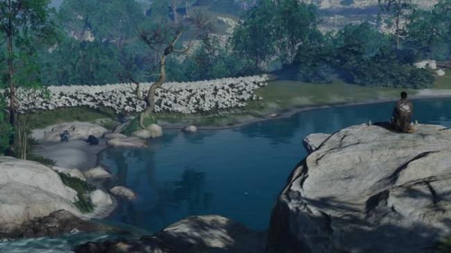 Watch A Bear Drown A Guy While We Compose A Haiku In Ghost Of Tsushima