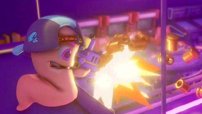 The new Worms game is a 32 player real-time arena shooter