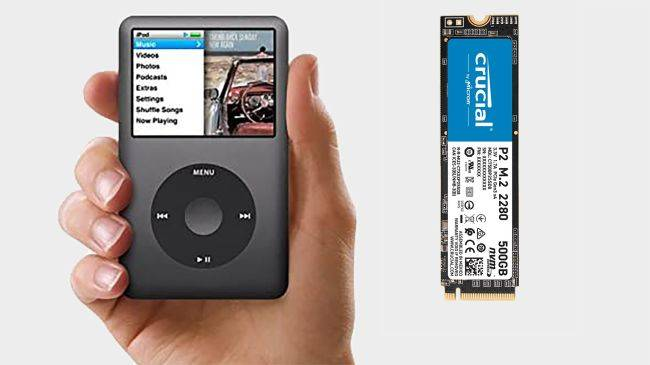 You can upgrade an Apple iPod Classic with an M.2 SSD fit for a PC