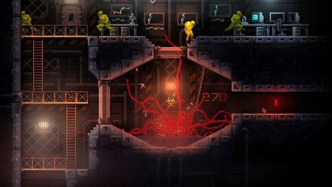 Be a flesh-blob horror monster when Carrion launches this month
