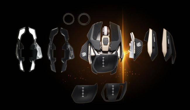 You can customize the layout of this modular mouse in 108 different ways