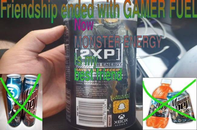 Halo ends friendship with Mtn Dew Game Fuel, makes Monster Energy new best friend