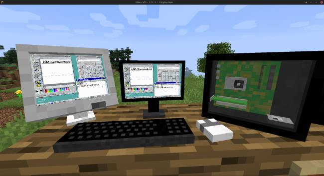 This Minecraft mod lets you build a PC and play games, and yes, Doom works