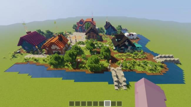 Minecraft Player Builds Beautiful Pelican Town Square