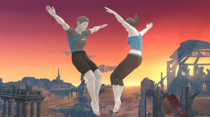 Fighting As The Wii Fit Trainer In Super Smash Bros. On Wii U