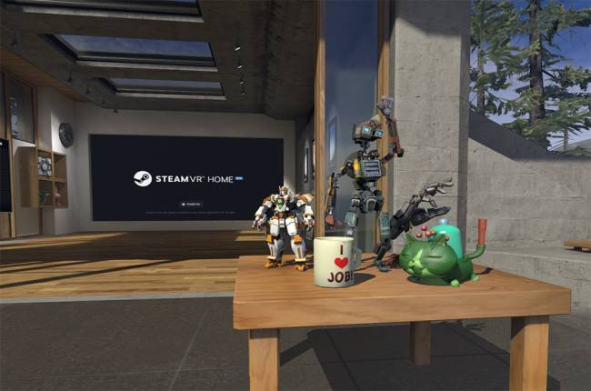 Fill your SteamVR Home lounge with gaming collectibles