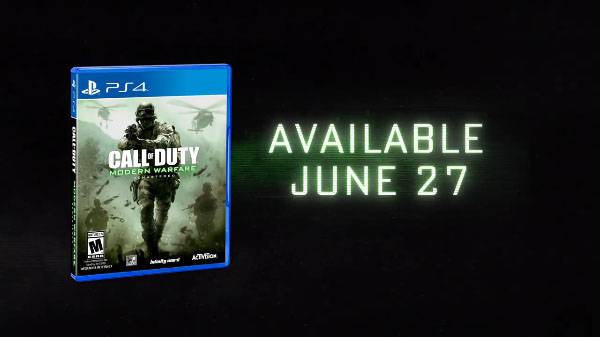 Call of Duty: Modern Warfare Remastered standalone launches for PS4 on June 27, Xbox One and PC later