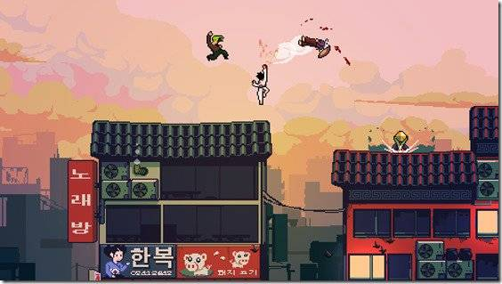 Roof Rage Offers Eight Player Martial Arts Battles On Precipitous Rooftops