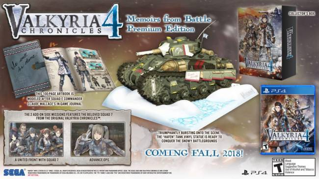 Valkyria Chronicles 4 heading to PC, consoles in September