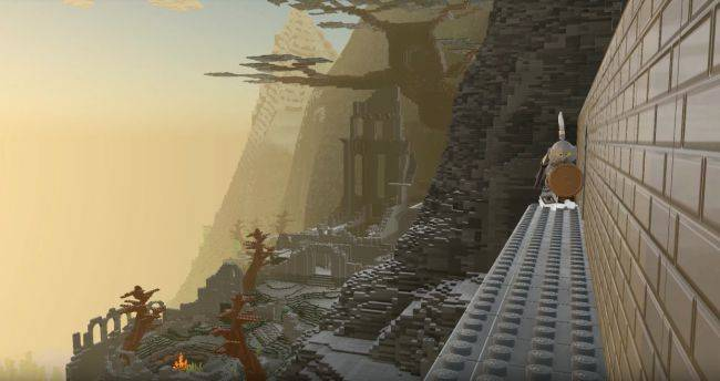 Here's an area of Dark Souls recreated in LEGO Worlds