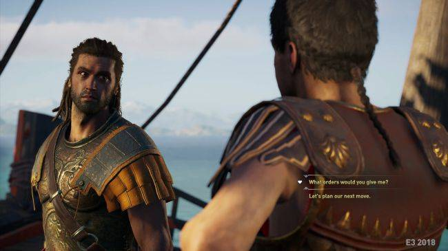 Leaked Assassin's Creed Odyssey screens show dialogue options, world map and ship combat