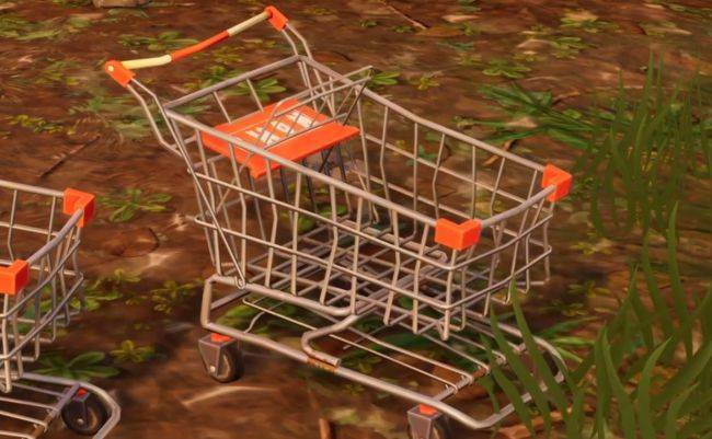 Fortnite player brutally murdered by the little shopping cart that could