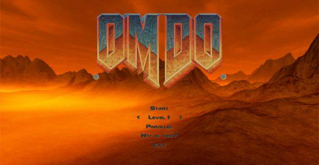 OMDO is what happens when you turn DOOM into a Magic Eye puzzle