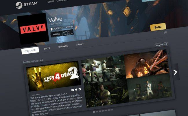 Steam now has developer and publisher 'Homepages'