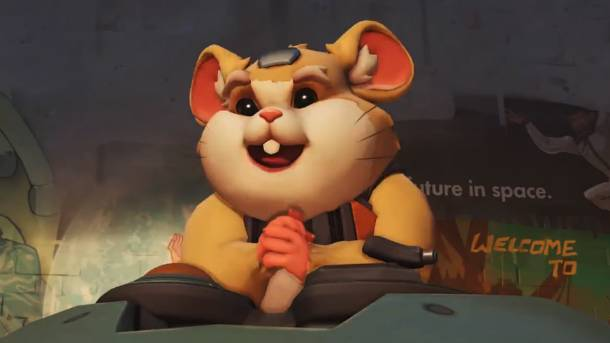 Overwatch teases hamster in rolling mech suit: 'The champion revealed'