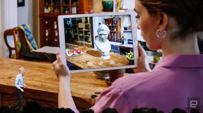 Apple's augmented reality is shared and persistent
