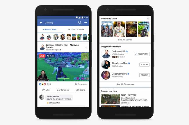 Facebook makes it easier to find and support game streamers