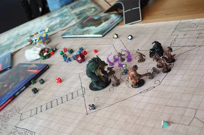 Build morale by slaying monsters after work