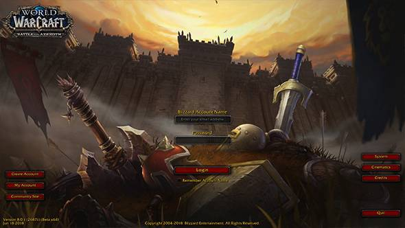 Now you can admire World of Warcraft: Battle for Azeroth's login screen in motion