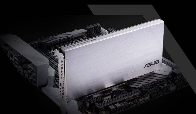 You can cram four SSDs in this add-in card for a ridiculously fast storage solution