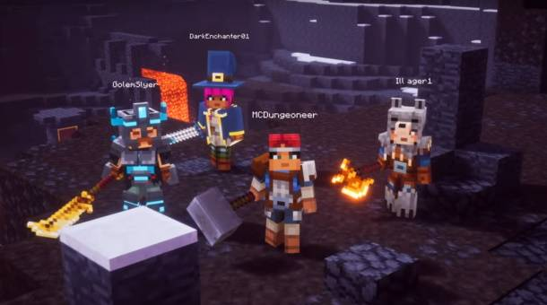 Minecraft Dungeons E3 trailer showcases four-player co-op dungeon running