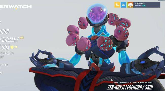 Overwatch's next skin is an octopus-themed tribute to 2018's best pro player