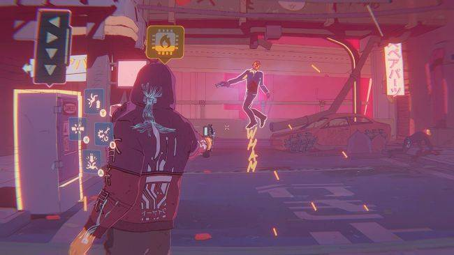 Foreclosed is a third-person cyberpunk shooter with a graphic novel style