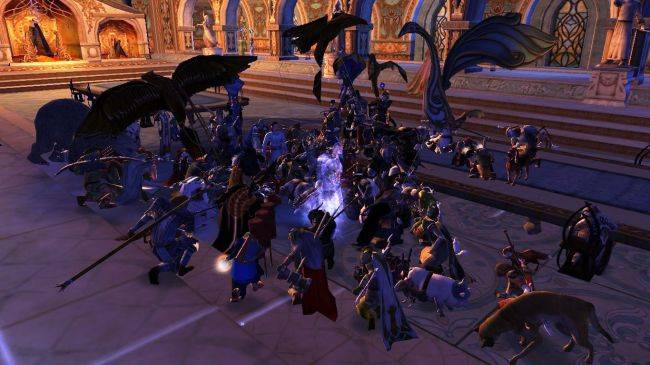 Players in The Lord of the Rings Online gather to honor the late Sir Ian Holm