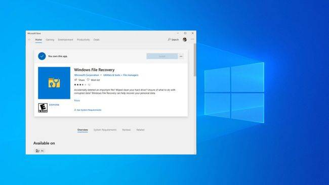 Microsoft quietly released its own undelete utility for Windows 10