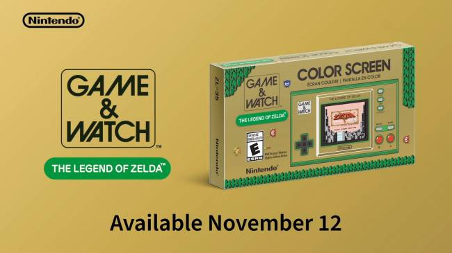 35th Anniversary The Legend of Zelda Game & Watch Announced
