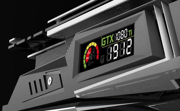 This GTX 1080 Ti has a built-in LCD display