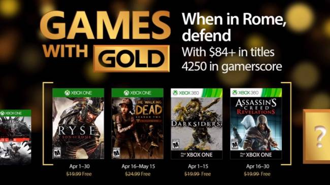 Xbox Games With Gold April 2017 – Zombies Ryse