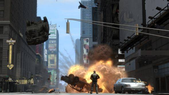 Show Trevor the Statue of Happiness as modders put all of Liberty City into GTA V