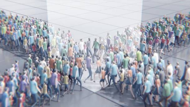 A Bizarre, Unsettling Game About Crowds