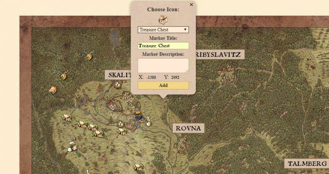 There's an interactive Kingdom Come: Deliverance map you can use in your browser